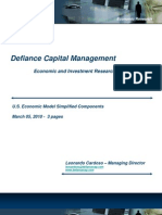Defiance Capital Management Economic Model Simplified Components