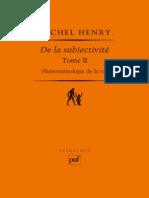 (Epimetée) Michel Henry-Phénoménologie de La Vie, Volume 2 _ de La Subjectivité-Presses Universitaires de France - PUF (2011)
