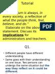 Curriculum Studies (Tutorial)