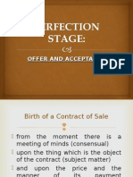 Perfection of Sale 2003 Format