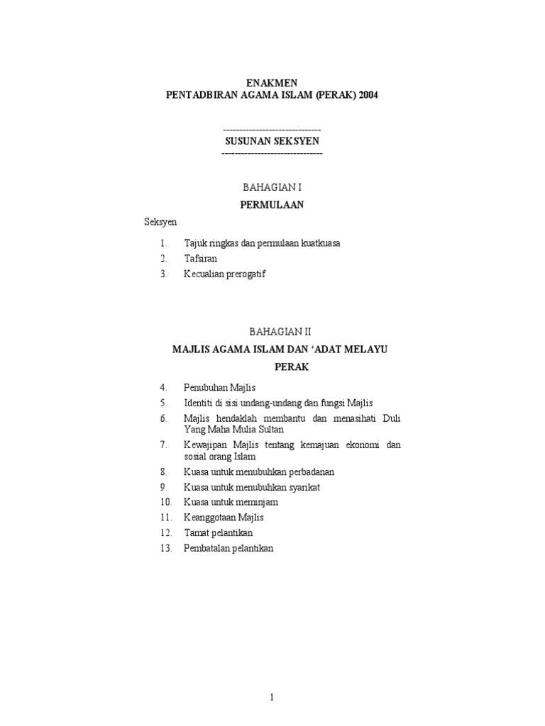 Enakmen Pentadbiran Agama Islam Perak 2004