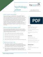 What is positive psychology? Qué es la psicologia positiva