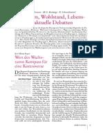 K.-h. Paqué · B. Jochimsen · M. O. Bettzüge · U. Schneidewind Wachstum, Wohlstand, Lebensqualität- Aktuelle Debatten