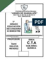 1° SECC - QUIMICA - III BIM - 2015