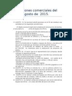 Transacciones comerciales 2015