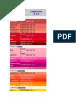 Tabla de Colores Web
