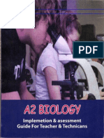 Edexcel A2 Biology Implementation and Assessment Guide for Teachers and Technicians