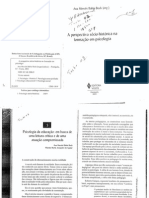 TEXTO 2 - A Prespectiva Sócio Histórica Na Formação Em Psicologia Bock e Aguiar