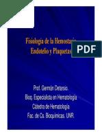 Endotelio y Plaquetas