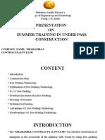Presentation on Summer Training (Lalit Kaushik)