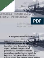 Strategi Penentuan Lokasi Perusahaan Ppt