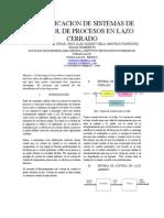 Identificacion de Sistemas de Control de Procesos en Lazo Cerrado