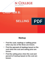 Chapter 8 - Selling