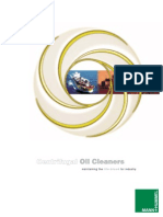 Contents Centrifugal Oil Cleaners