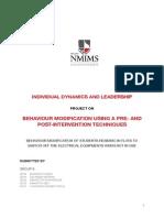 Behaviour Modification Report IDL