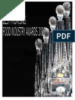 Best Promising Food Industry Awards2015 Brochure