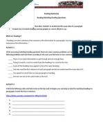 Actividad de inglés - Lectura y Matching questions
