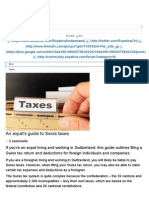 An Expat's Guide to Swiss Taxes - Finance _ Tax _ Expatica Switzerland