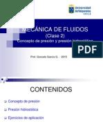 MF Clase 2 Conceptos de Presion Hidrostatica