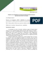 El Genero y Las Sexualidades en La Educacion Sexual de Docentes Tucumanxs. Aproximaciones Desde El Curriculum