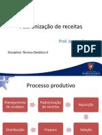 Padrniza o de Receitas PDF
