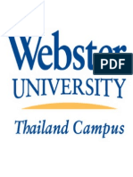 Webster University, Thailand Campus - acknowledgement