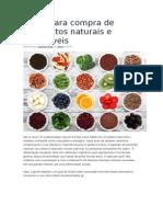 Guia Para Compra de Alimentos Naturais e Saudáveis