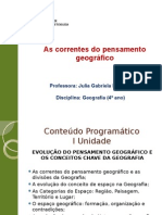 Correntes Do Pensamento Geográfico