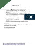 Example of a Teacher Assessment Checklist