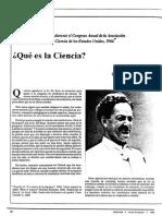 Conferencia pronunciada durante el Congreso Anual de la Asociación Nacional de Profesores de ciencias de Estados Unidos 1996 - Qué es la Ciencia.pdf