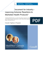 AE Reporting Guideline Canada 2009 Guidance-directrice Reporting-notification-Eng