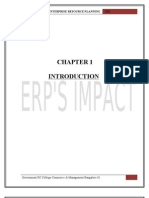 ERP IMPACT ON ORGANIZATIONS