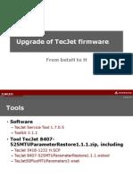 Upgrade of Tecjet Firmware Rev2