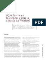 ¿QUÉ HACER EN LA CIENCIA Y CON LA CIENCIA EN MÉXICO?
