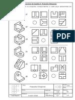 Desenho Técnico Exercícios - Capítulo 3 - Projeções Ortogonais