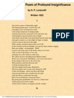 H. P. Lovecraft - Waste Paper - A Poem of Profound Insignificance
