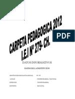 Carpeta Pedagoagica 2011-Churrubamba Completo