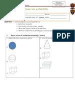 Prueba de Matemática Geometría y Medición
