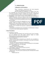 Prova 01 - Resumo - Parasitologia