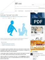 Secreto Para _hacer Popó_ Como Se Debe _ SDP Noticias