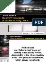 Swami Vivekananda on Education and Society - Part 4 -