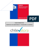 Plan Formativo Servicio de Asistencia y Atención a Clientes