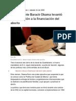Aborto Critica a Obama