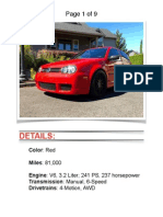2004 VW R32 Red w/ 81k