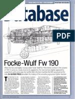 Focke-Wulf Fw 190 Würger German WW2 Fighter
