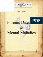 High Psionics - Phrenic Diseases and Mental Maladies