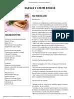 Tarta de Frambuesas y Creme Bruleé en Elgourmet
