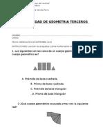 Prueba de Matematica Geometria 3 Basico