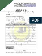 Inscripcion ABSOLUTA 2008