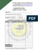 Inscripcion INFANTIL 2008